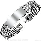 Urban Male Stainless Steel Men's ID Bracelet Ideal For Engraving
