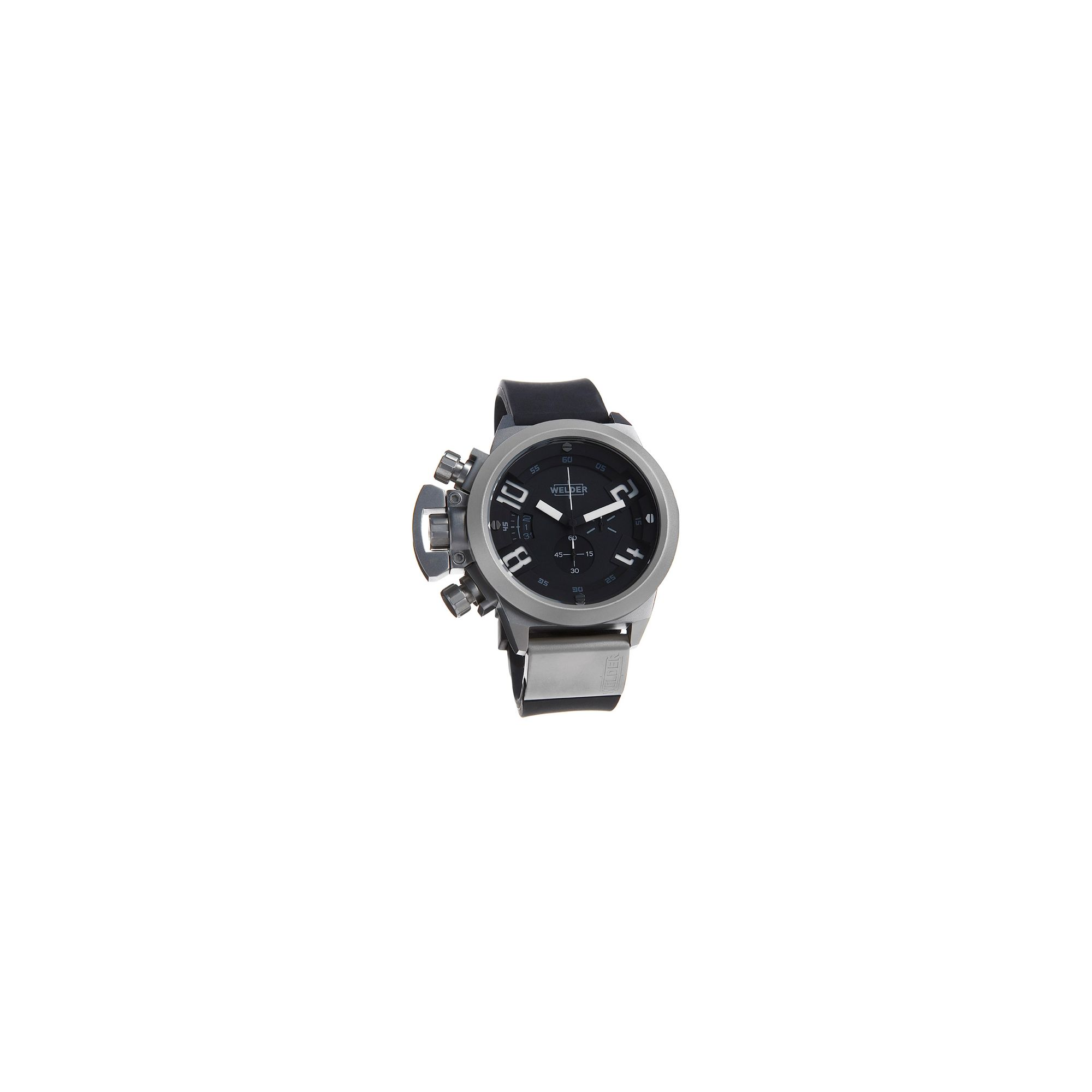 Welder Gents Black Dial Black Rubber Strap Chronograph Watch K24-3200 at Tesco Direct