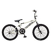 Rooster Big Daddy 20 BMX White/Black with Spoke Wheels