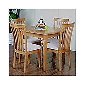 G&P Furniture Windsor House 5-Piece Lincoln Extending Dining Set - Maple