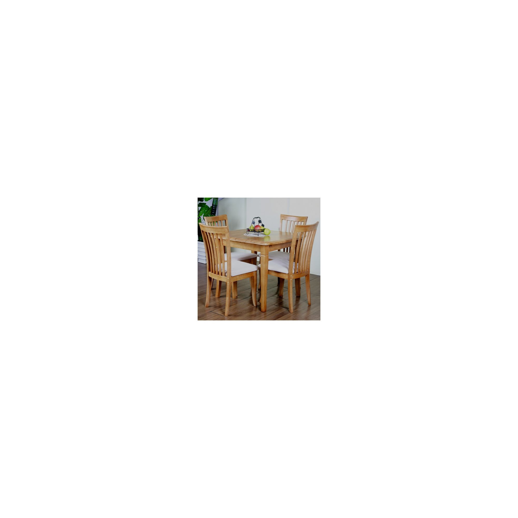 G&P Furniture Windsor House 5-Piece Lincoln Extending Dining Set - Maple at Tesco Direct