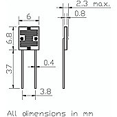 1.8k-4.5k Ohm Light Dependent Resistor
