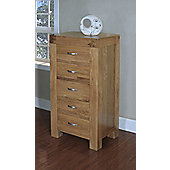Hawkshead Rustic Oak Blonde Wellington Chest of 5 Drawers