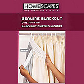 Homescapes Blackout Curtain Lining Pair - 64 x 70 Inches