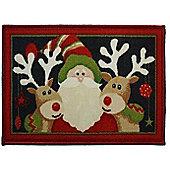 Santa and Reindeer Christmas Themed Door Mat