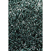 InRUGS Diamond Petrol Shaggy Rug - 200cm x 140cm (6 ft 6.5 in x 4 ft 7 in)