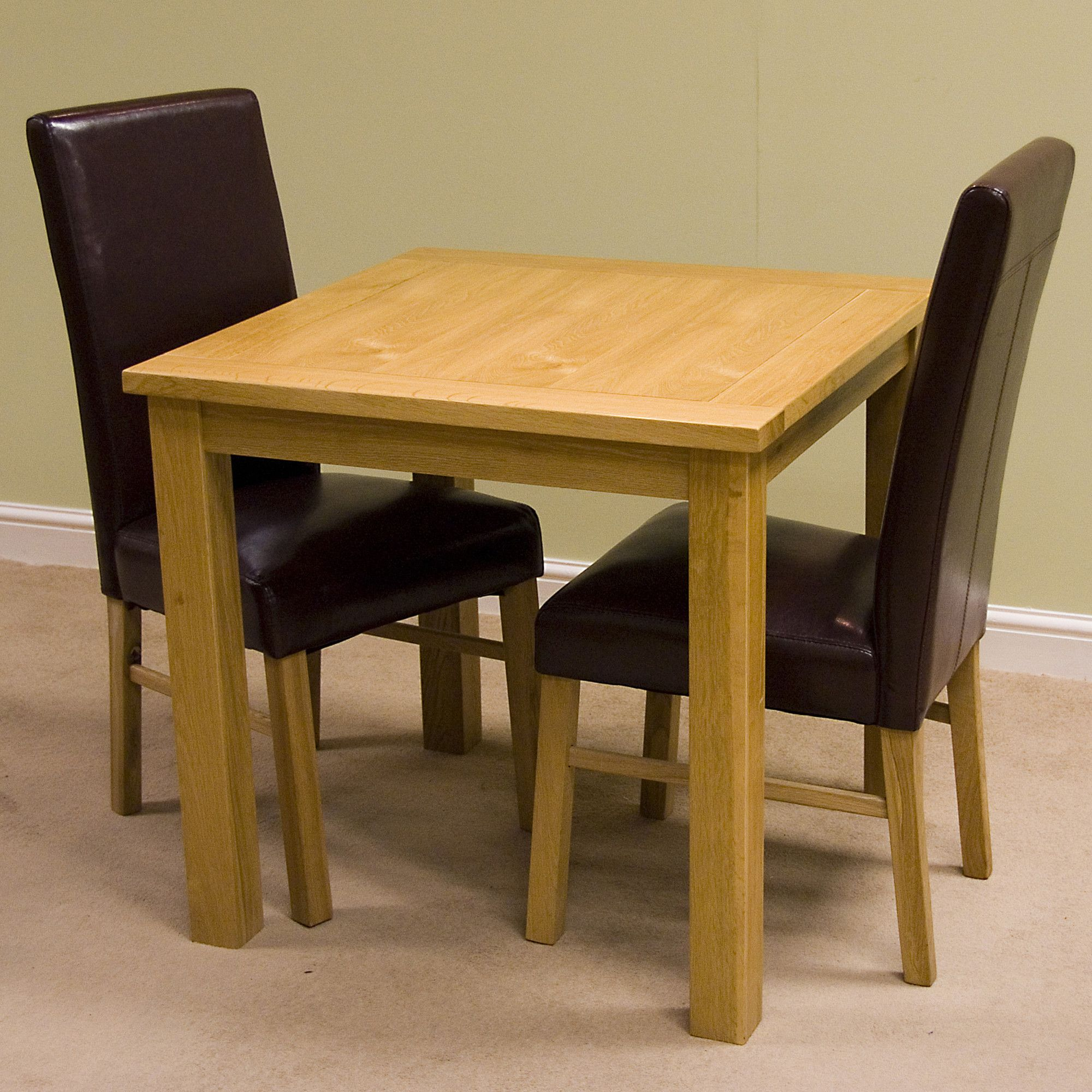 G&P Furniture Lyon Oak 3 Piece Fixed Top Dining Collection