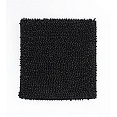 Catherine Lansfield Microfibre Chenille Shower Mat - Black