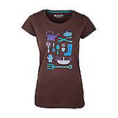 Gardening Womens Relaxed Tee Shirt 100% Cotton T-Shirt - Brown