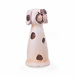 Cheerful Terracotta Animal Garden Ornament - Dog