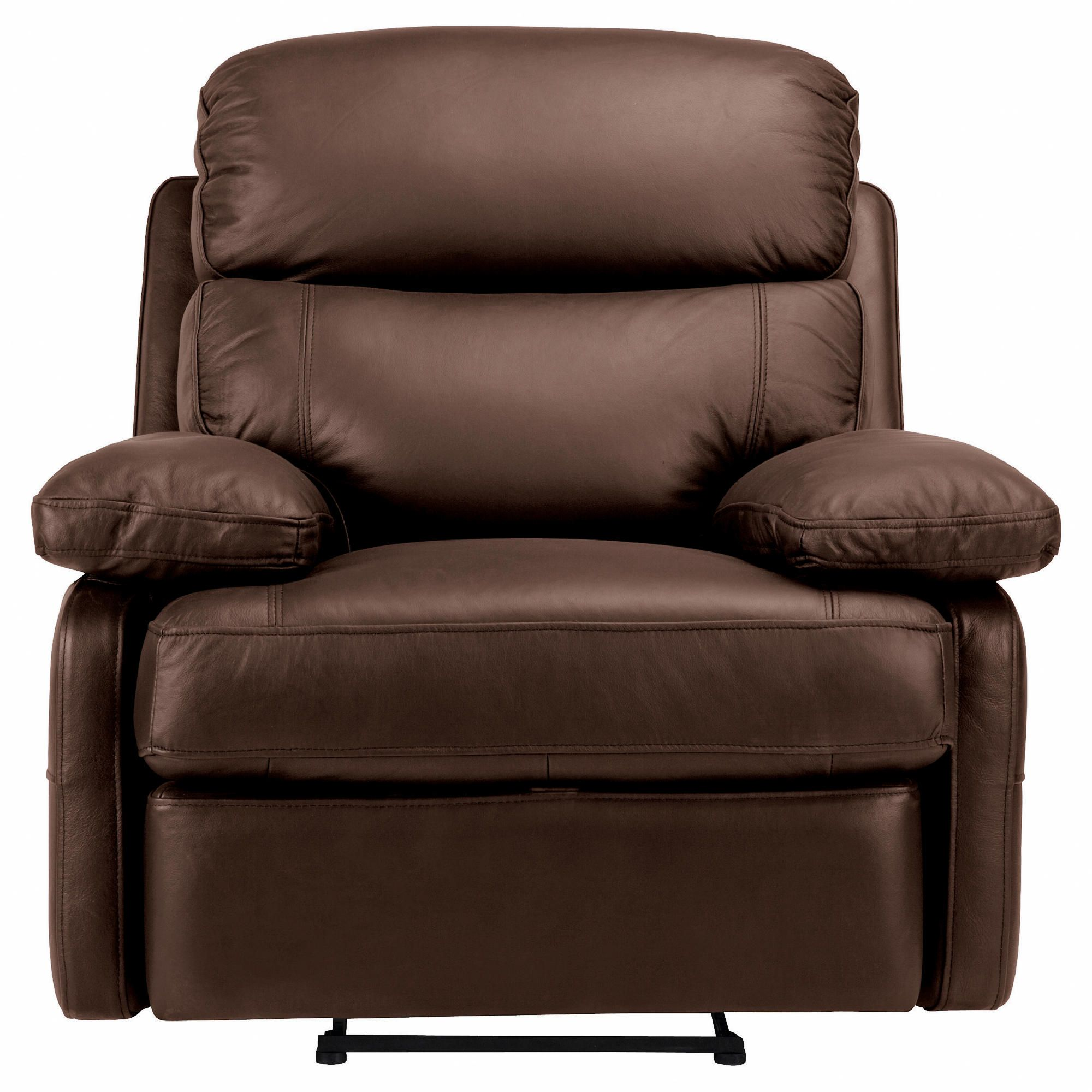 Cordova Leather Recliner Chair Chocolate at Tescos Direct