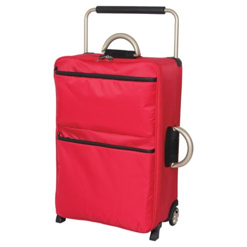 IT Luggage World's Lightest Suitcase, Red Medium