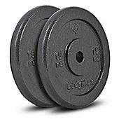 Bodymax Standard Hammertone Weight Plates - 2 x 15kg