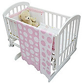 Cuddles Collection Knitted Baby Wrap Blanket (Pink Spots)