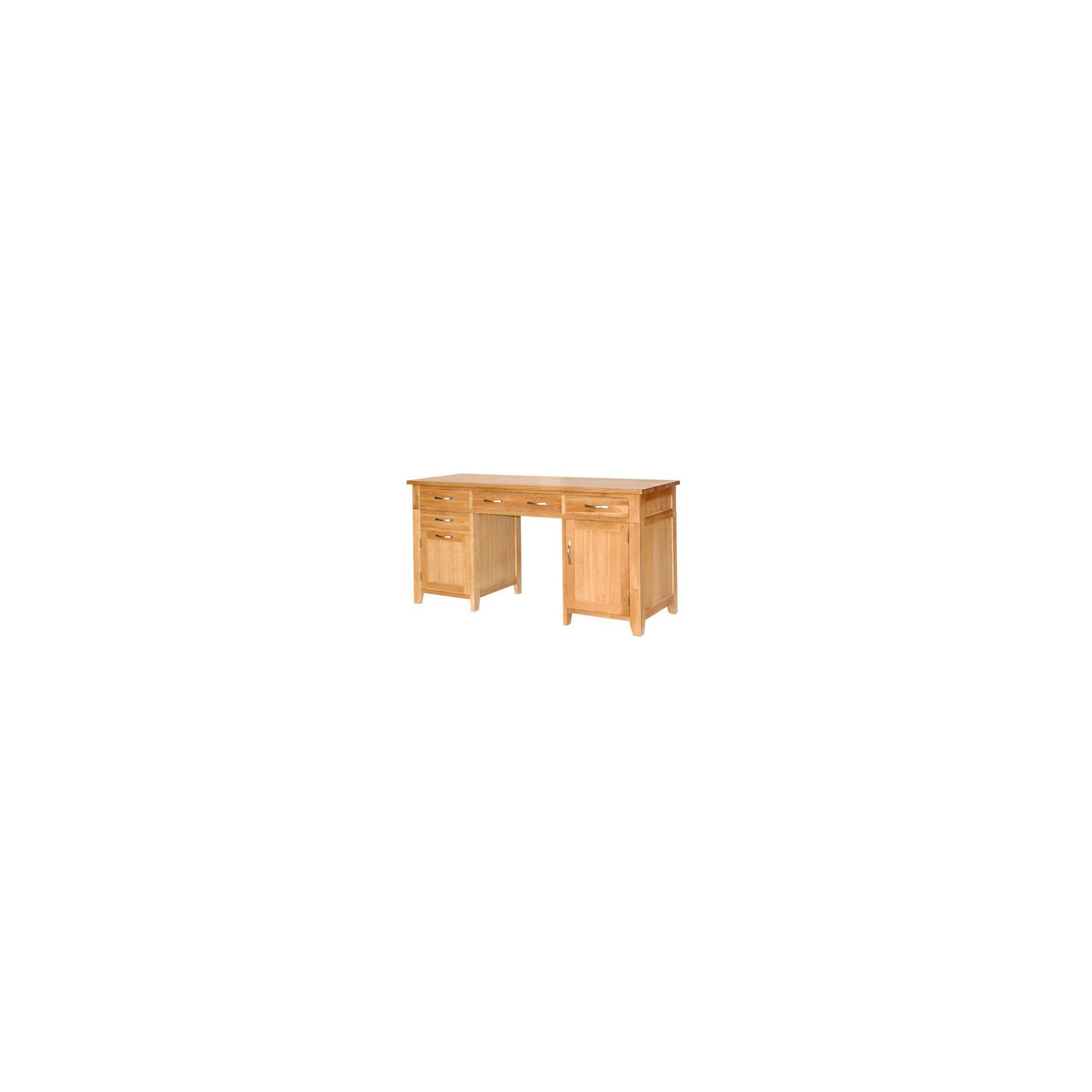 Ametis Sherwood Oak Double Pedestal Desk at Tesco Direct