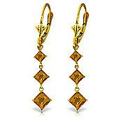 QP Jewellers 4.79ct Citrine Whiteland Earrings in 14K Gold
