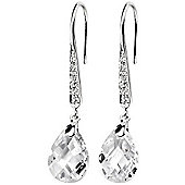 Faceted Teardrop CZ Earrings