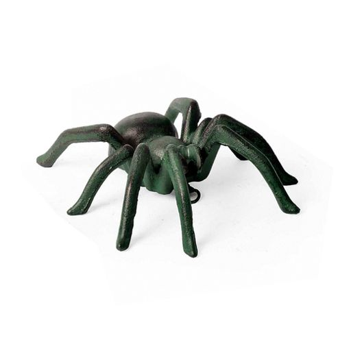 Large Wall Mountable Verdigris Cast Iron Tarantula Spider Garden Ornament