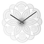 Karlsson Lace Cut Out Wall Clock - White
