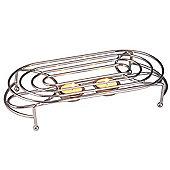 Heat - Metal Double Food / Plate Warmer - Silver