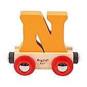 Bigjigs Rail Rail Name Letter N (Orange)