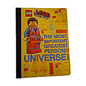 Lego Movie The Most Important Greatest Person In The Universe Notbook
