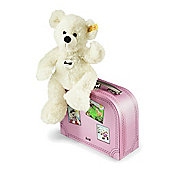 Steiff Lotte Teddy Bear in Pink Suitcase (28cm)