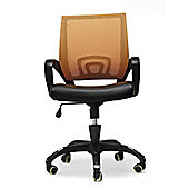 Hispanohogar Office Armchair - Orange