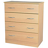 Welcome Furniture Avon 4 Drawer Chest - Light Oak