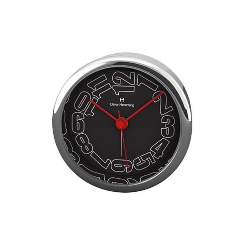 Oliver Hemming Alloy Desire Alarm Clock - 5.8cm - Black