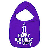 Dirty Fingers Happy 1st Birthday to me! Baby Bib Purple