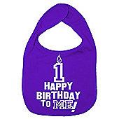 Dirty Fingers Happy 1st Birthday to me! Baby Bib Purple