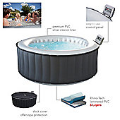 M-SPA Silver Cloud Lite M021LS Inflatable Hot Tub Jacuzzi Lazy Spa 4-6 People