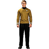Star Trek Gold Shirt - Adult Costume Size: 34-36