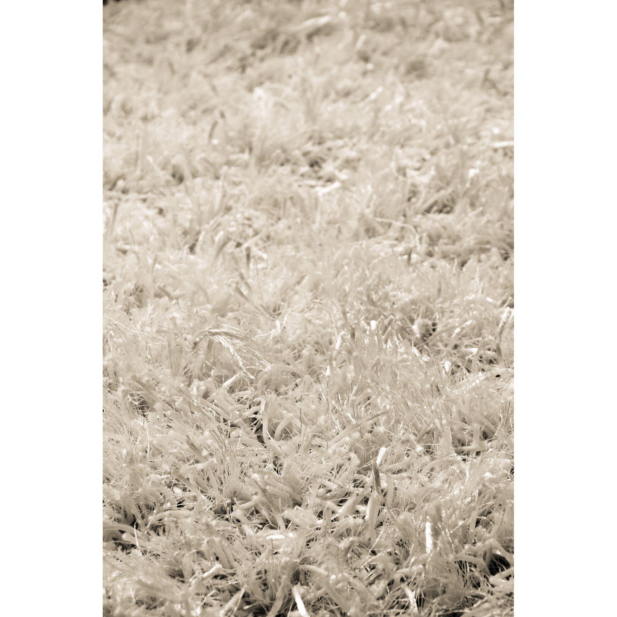 InRUGS Diamond White Shaggy Rug - 290cm x 200cm (9 ft 6 in x 6 ft 6.5 in)