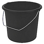 10L Household Bucket Black