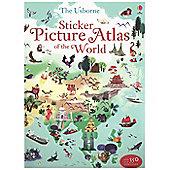 Usborne Sticker Picture Atlas Of The World Book