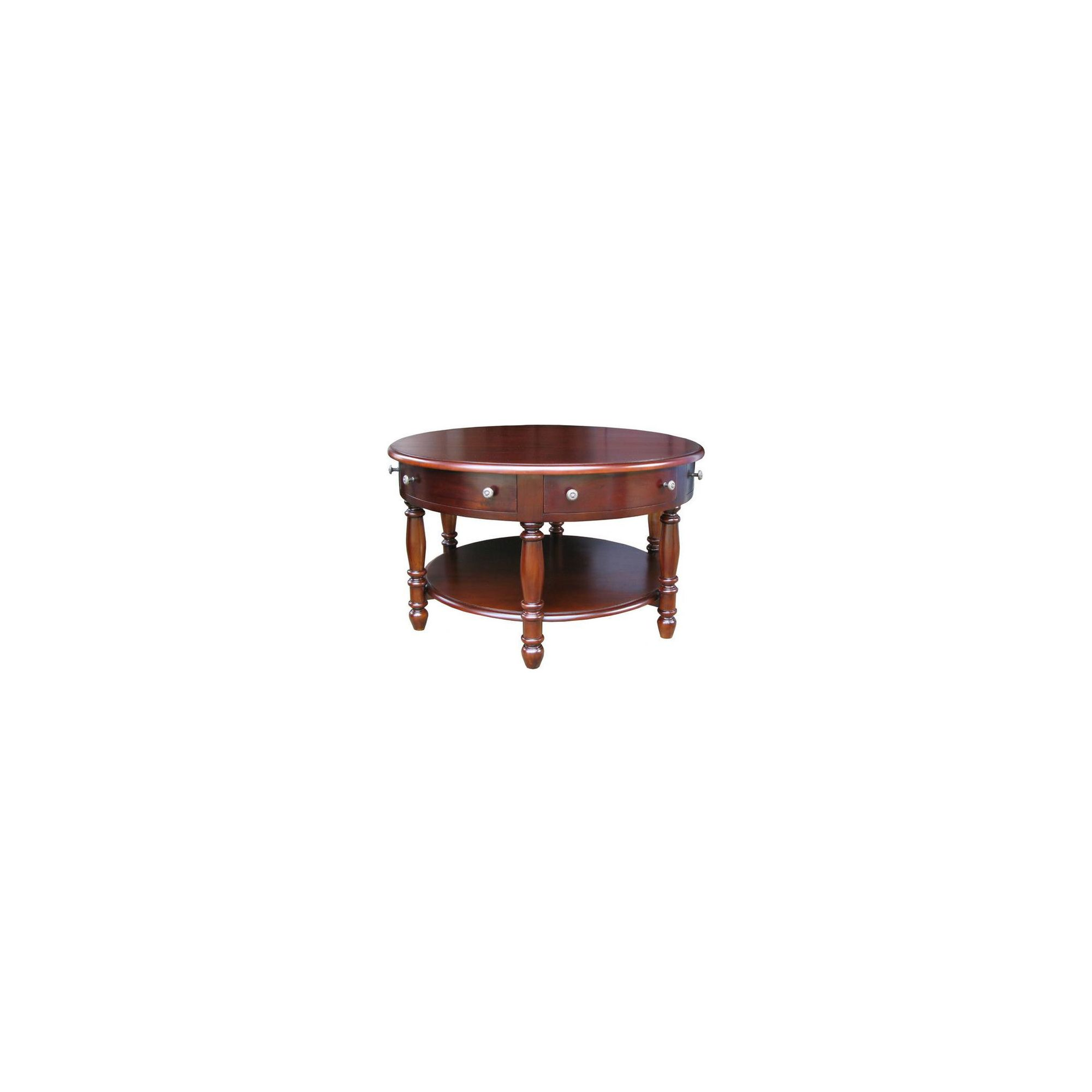 Lock stock and barrel Mahogany 6 Drawer Round Coffee Table in Mahogany at Tesco Direct