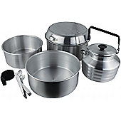 Yellowstone 6-Piece Aluminium Cook Set with Kettle Silver