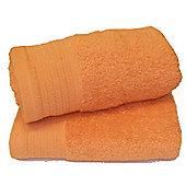 Luxury Egyptian Cotton Hand Towel - Orange