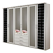 Wimex Yvonne 6 Door 3 Drawer Wardrobe