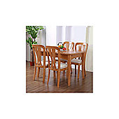 G&P Furniture 5 Piece Square Extending Dining Table Set