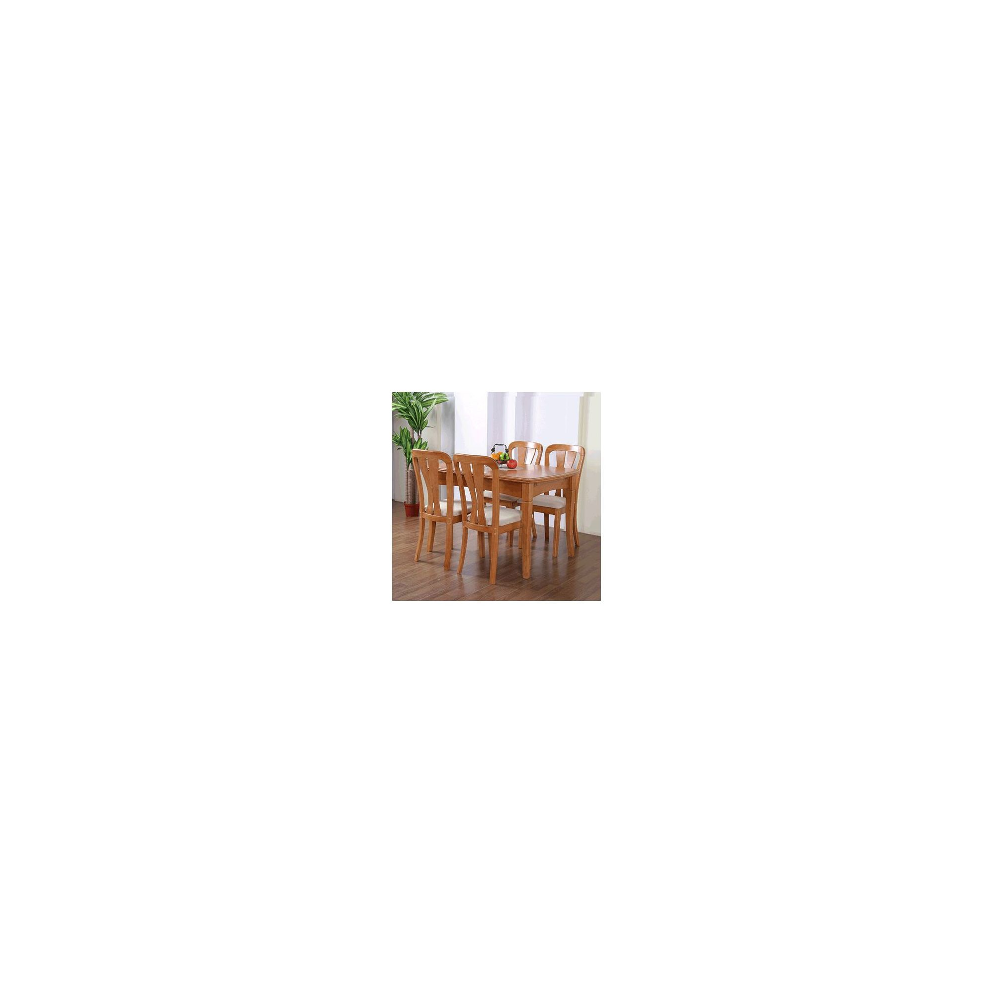 G&P Furniture 5 Piece Square Extending Dining Table Set at Tesco Direct