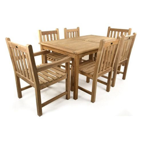 Comgarden Chair And Table Set : ... Teak Set - Seats 6 from our Wooden Garden Furniture range - Tesco