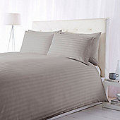 Luxury Hotel Collection 300Tc Wide Sateen Stripe Duvet Set Grey Double
