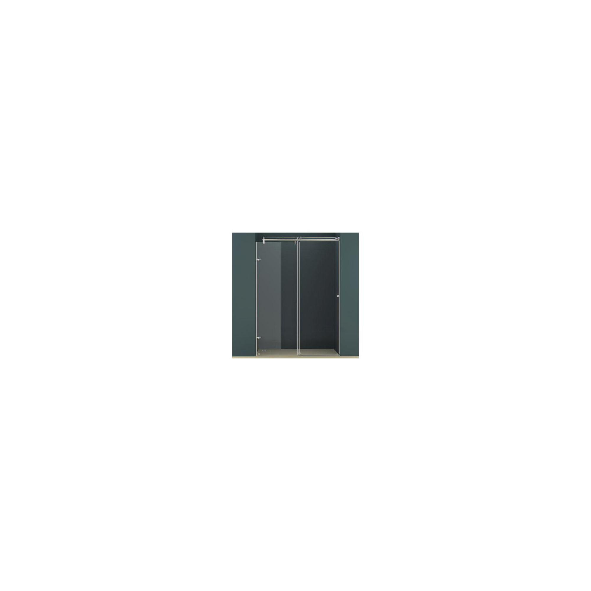 Vessini K Series Sliding Shower Door, 1400mm Wide, 10mm Glass at Tesco Direct