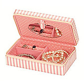 Candy Pink Stripe Jewellery Box