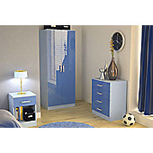 GFW Ottawa 2 Tones Bedroom Collection - Blue High Gloss