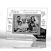 Sixtrees Moments Bevelled Glass Nan Photo Frame