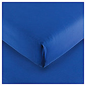 Kids 100% Cotton Blue Fitted Sheet